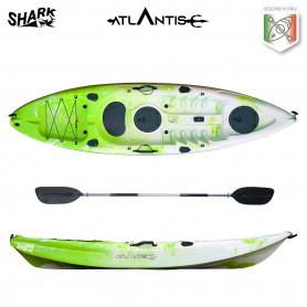 Kayak-canoa Atlantis SHARK lime/bianco cm 280 - 2 gavoni -