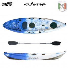 Kayak-canoa Atlantis SHARK blu/bianco cm 280 - 2 gavoni -