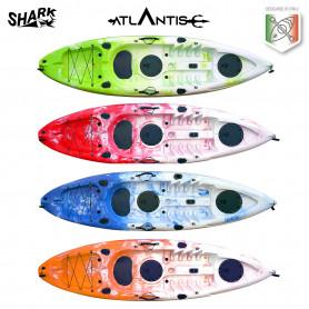 Kayak-canoa Atlantis SHARK cm 280 - 2 gavoni - pagaia -