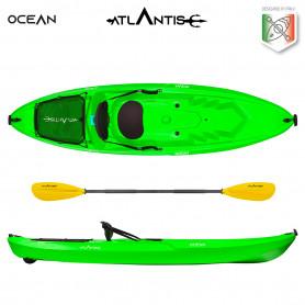 Kayak - canoa Atlantis OCEAN verde lime cm 266 - seggiolino -