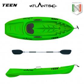 Kayak-canoa Atlantis bambino TEEN verde lime cm 182 con pagaia