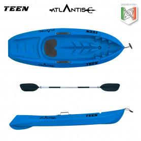 Kayak canoa Atlantis bambino TEEN blu cm 182 con pagaia (nei