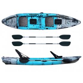Kayak-canoa Atlantis COSMIC KARP cm 390 azzurra/grigia - 2