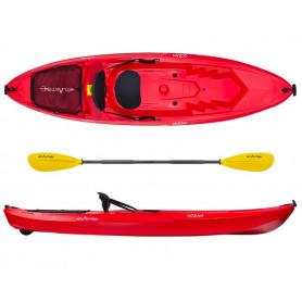 Kayak-canoa Atlantis OCEAN rossa cm 266 - schienalino - ruotino