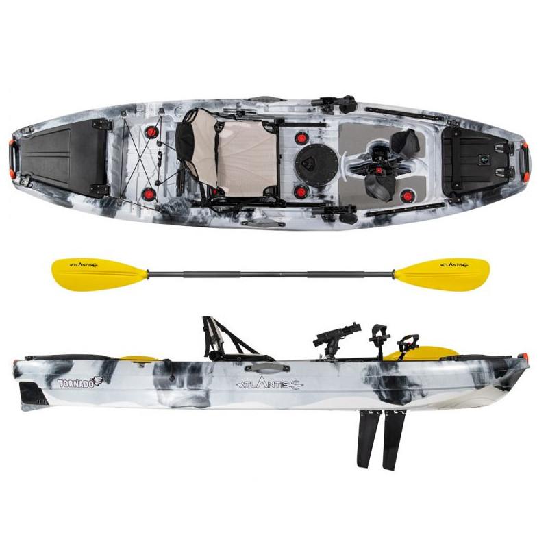 Kayak-canoa Atlantis TORNADO a pedali grigia - cm 300 -