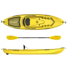 Kayak - canoa Atlantis OCEAN gialla - cm 266 - schienalino -