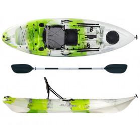 Kayak-canoa Atlantis IRUKA lime/bianco - cm 285 - seggiolino -
