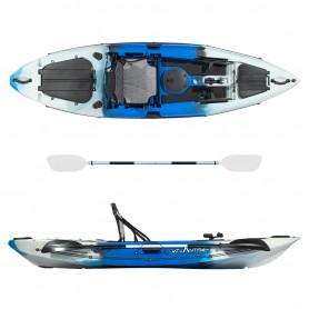 Kayak-canoa Atlantis FURY blu - cm 306 - seggiolino - 3 gavoni
