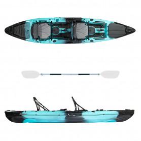 Kayak-canoa Atlantis SEA GHOST cm 363 - 3 gavoni - 2 seggiolini