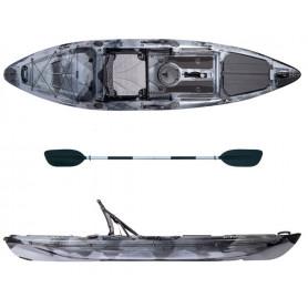 Kayak-canoa Atlantis KOKUREN grigio/nero - cm 330 - seggiolino