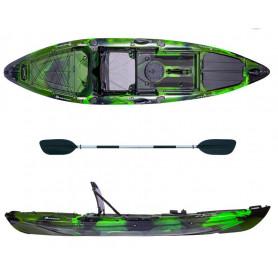 Kayak-canoa Atlantis KOKUREN verde/nero - cm 330 - seggiolino -