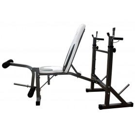 Panca con portabilancere GetFit Force Bench 860 richiudibile