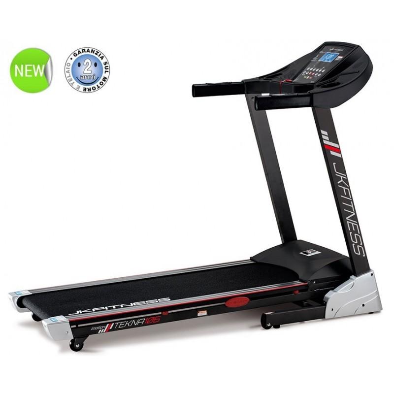 Tapis roulant JK Fitness TEKNA 106 - inclinazione elettrica - 2 hp - piano da corsa 42 x 130 cm