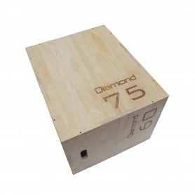 Plyo Box in legno 50-60-75 cm Diamond Fitness