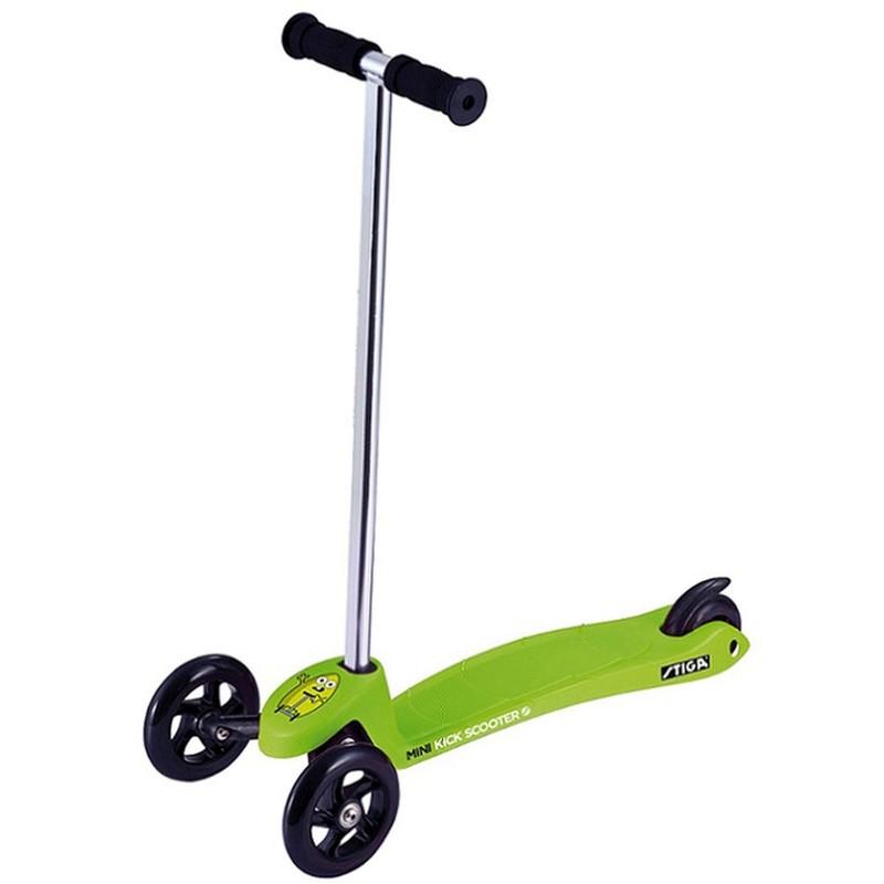 Monopattino a 3 ruote verde
