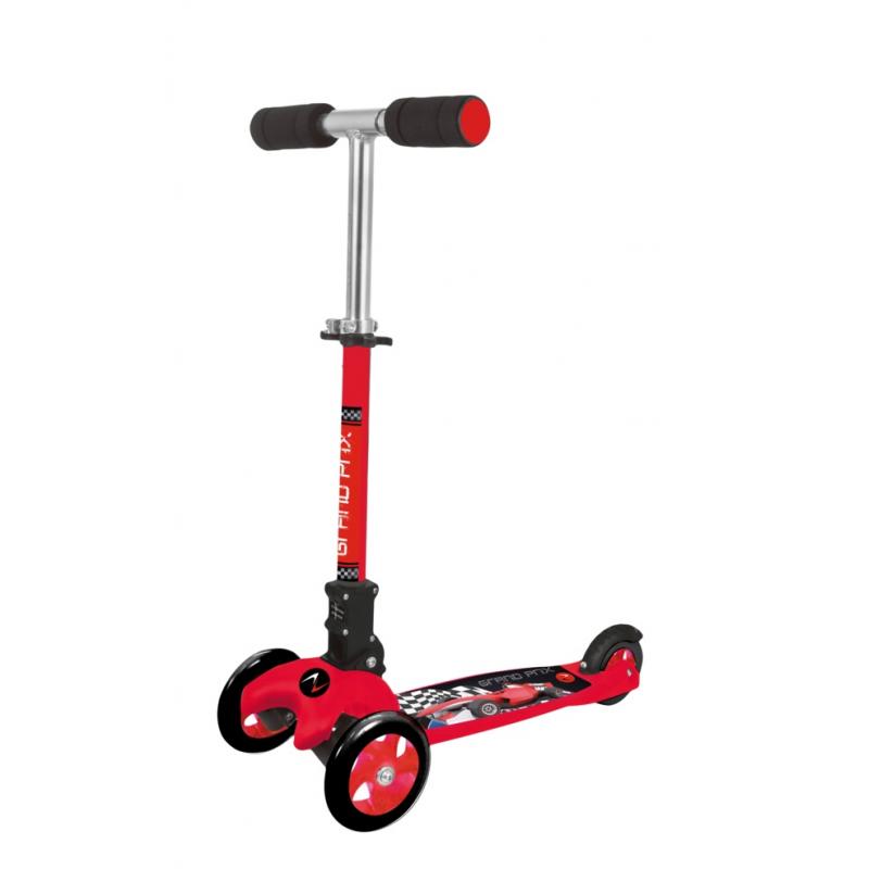 Monopattino a tre ruote ADVENTURE KID GRAND PRIX   rosso
