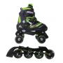 Pattini  a rotelle trasformabili in pattini in linea 2in1 REVERSE verde lime misura S