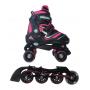 Pattini  a rotelle trasformabili in pattini in linea 2in1 REVERSE fucsia misura L