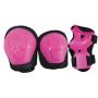 Set di protezion KIDS fucsia peso utilizzatore fino a 25 kg.