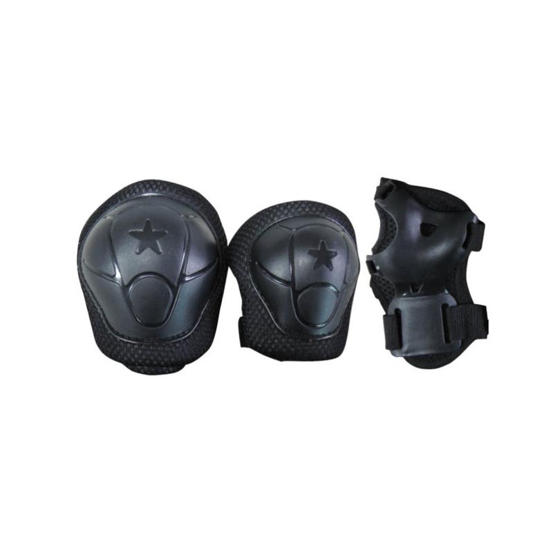 Set di protezioni KIDS  nero peso utilizzatore fino a 25 kg.
