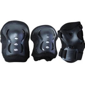 Set di protezioni JUNIOR  nero peso utilizzatore  da 25 a 50 kg.