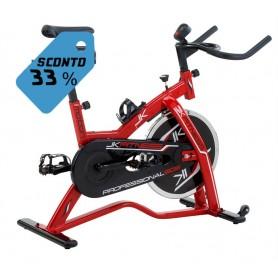 Spin bike JK 505 Jk Fitness - volano 20 kg - trasmissione a catena