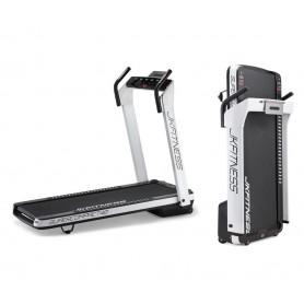 Tapis Roulant JK Fitness SUPERCOMPACT48 Bianco - Salvaspazio - inclinazione elettrica - 2 hp - piano di corsa 48 x 130 cm