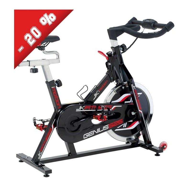 Spin bike JK 525 Jk Fitness volano da 22 kg trasmissione a catena