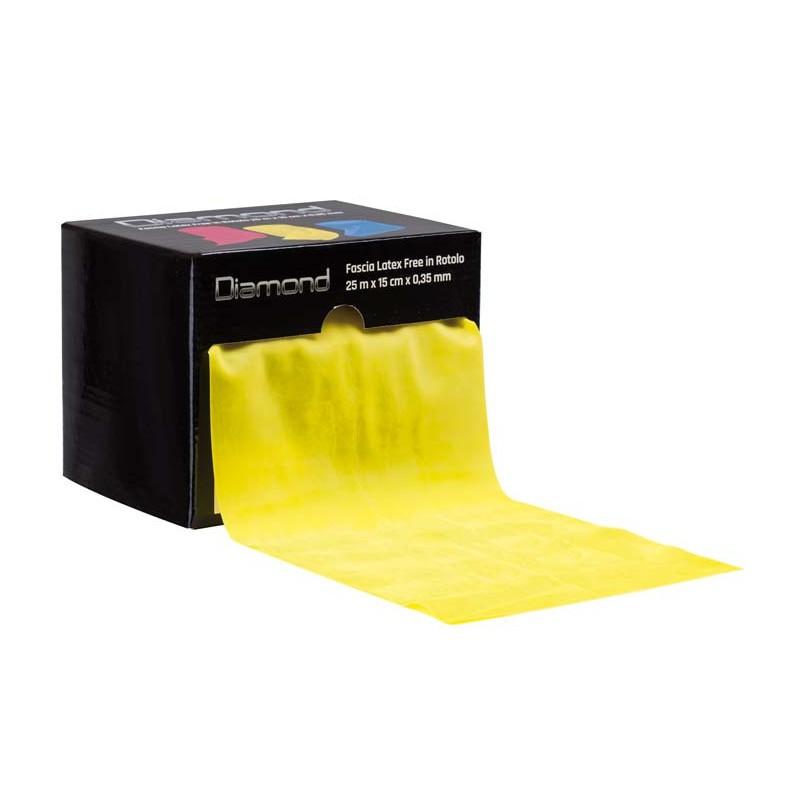 Fascia Elastica Latex Free in Rotolo 0,35 mm x 15 cm x 25 m gialla